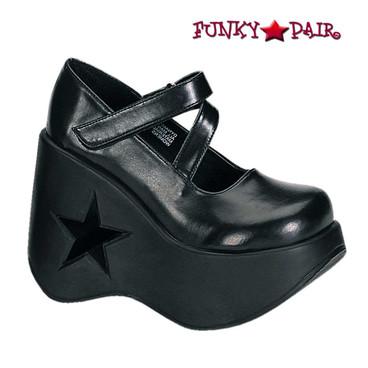 Demonia Shoes | Dynamite-03, Star Shoes Platform Maryjane