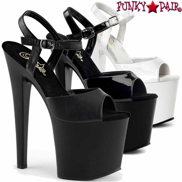 "Pleaser TABOO-709, 7.5"" Ankle Strap Platform Shoes"