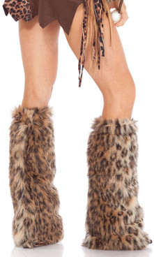 Animal Print Furry Legwarmers.