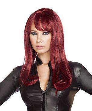 WIG103 Burgundy wig