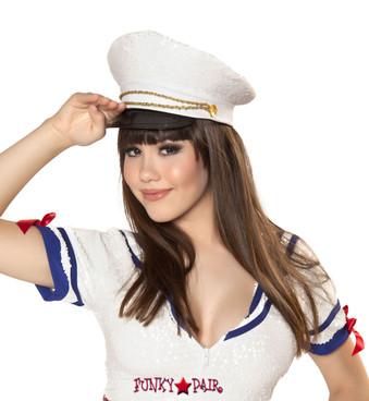 H4340, Sequin Sailor Hat