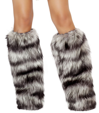 LW4475, Fur Leg Warmers