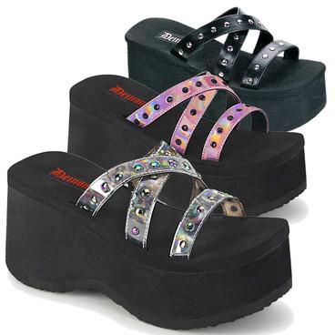 Funn-19 Studded Straps Sandal by Demonia