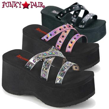Demonia | Funn-19 Studded Straps Sandal