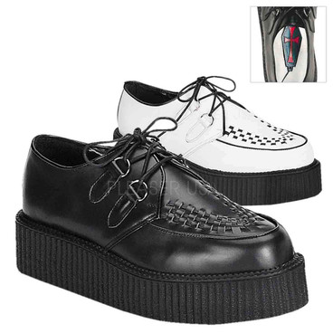 Demonia Men's CREEPER-402L, Leather Basic Creeper Shoes