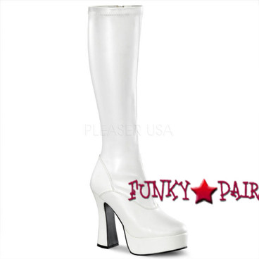 ELECTRA-2000, 5 Inch Heel Platform Boot, w/Zipper * Made by PLEASER Shoes