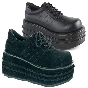 Men's TEMPO-08 Platform Vegan Leather Demonia Shoes