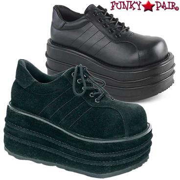 Demonia | Men's TEMPO-08 Platform Vegan Leather Shoes