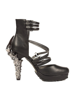 Verne, 5 Inch Claw Heel Strappy Open Ankle Booties