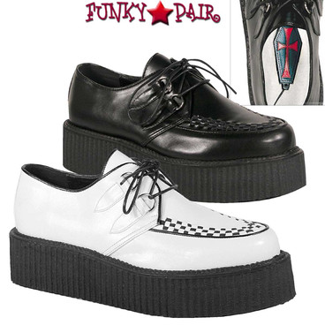 Demonia |  V-Creeper-502 Men Gothic Shoes