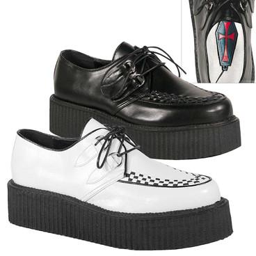 Men Gothic Shoes V-Creeper-502 Demonia
