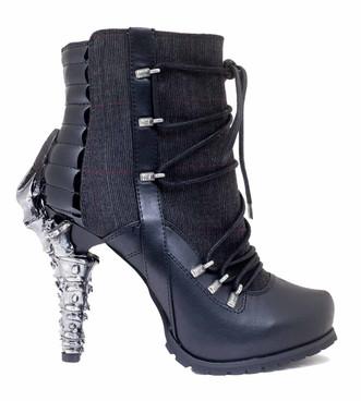 Women's SteamPunk biker Ankle Boots   Hades SHADE