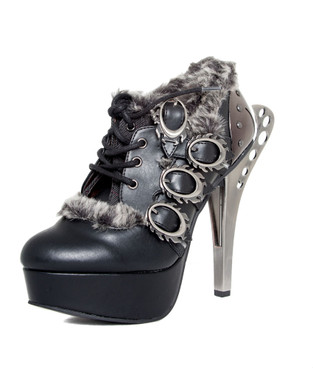 MONARCH, Ankle Boots with flames buckles