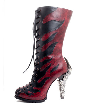 Hades | PYRA Claw Heel with Fire Flames Boot