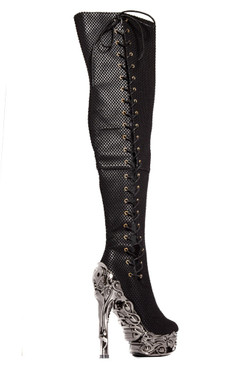 FLORENCE Thigh High Alternative Boots by Hades Back Side view