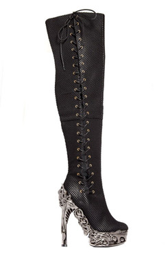 Hades Boots   FLORENCE Thigh High Alternative Boots