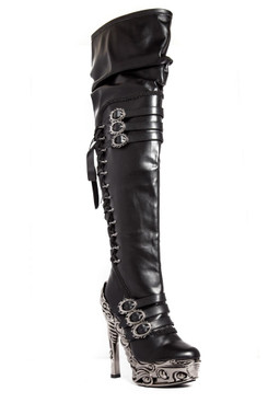 Women's Thigh High SteamPunk Fashion Boots by Hades Lokie
