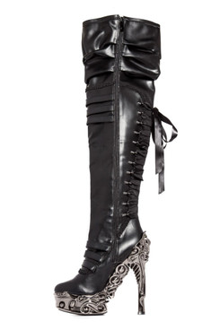 LOKIE, Thigh High SteamPunk Fashion Boots by Hades
