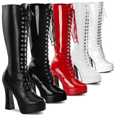Lace-Up Stripper Boots Pleaser | ELECTRA-2020