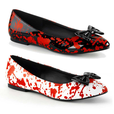 Flats with Blood Prints by Funtasma Vail-20BL