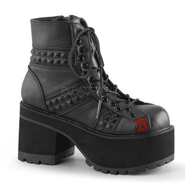 Ranger-108, 4 Inch Block Heel Ankle Boots