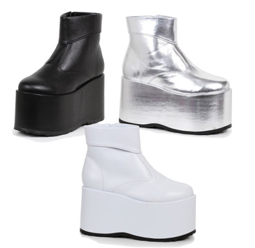 5 inch men platform ankle boots