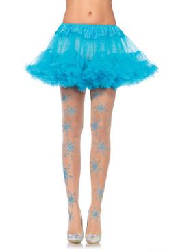 LA7952, Glitter Snowflake Pantyhose