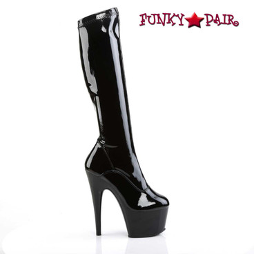 Pleaser | Adore-2000, Stretch Stripper Boots