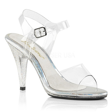 """Caress-408MG, 4"""" Ankle Strap with Accent Sandal"""