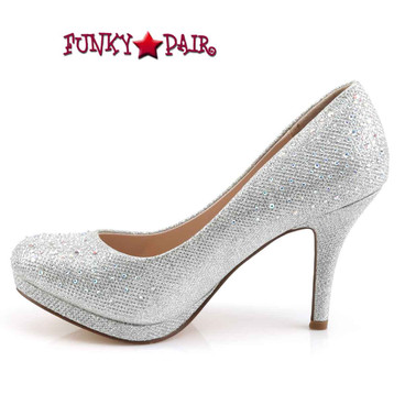 "Covet-02, 3.5"" Wedding Pump with Rhinestones inner side view"