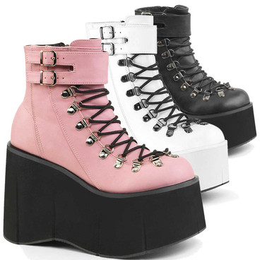 Demonia | Kera-21, Vegan Leather Ankle Cuff Boots