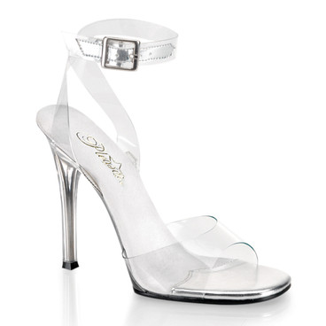 "4.5"" Clear Ankle Wrap Sandal 