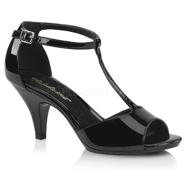 Belle-371, 3 Inch Closed Back T-strap Sandal