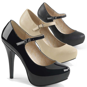 "Chloe-02, CrossDresser 5.25"" Heel Mary Jane Pump"