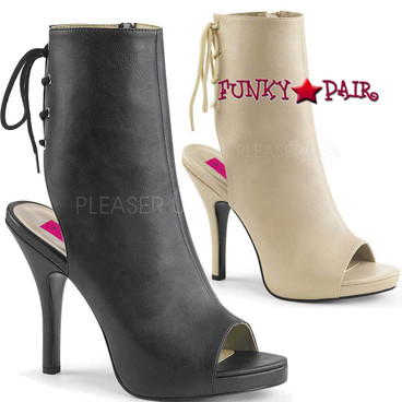 Pink Label | Eve-102 Womens Ankle Boots Plus Size 9-16