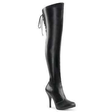 """Eve-312, 5"""" Heel Back Lace Up Thigh High Boots 