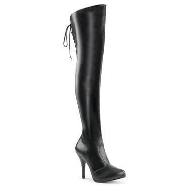 "Eve-312, 5"" Heel Back Lace Up Thigh High Boots 