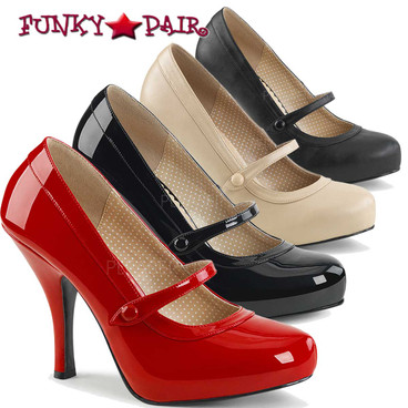 Pink Label | Pinup-01 Women Mary Jane Pump Size 9-16 | Funkypair.com