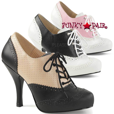Pink Label | Pinup-07, Spectators Oxford Shoes Size 9-16