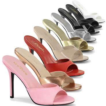 Classique-01, 4 Inch Stiletto Heel Mule by Pleasure
