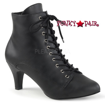 Pink Label   Divine-1020, Block Heel Ankle Boots Size 9-16
