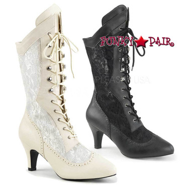 Pink Label | Divine-1050, Lace Mid Calf Boots Size 9-16