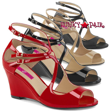 Kimberly-04 Strappy Sandals by Pleaser Pink Label