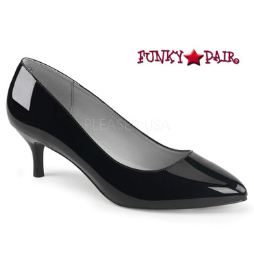 Black Kitten-01 Drag QUEEN Low Heel Pump | Pink Label
