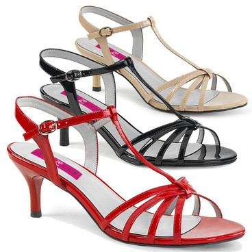 "2.5"" Cross Dressing T-strap Sandal Pink Label 