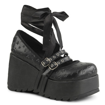 Scene-20, Platform Maryjane Shoe by Demonia