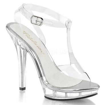 Lip-118, 5 Inch Heel T-Strap Sandal