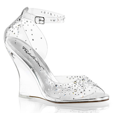 Lovely-430RS, 4 Inch D'orsay Style Wedge