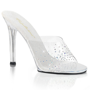 Gala-01SD, 4.5 Inch High Heel with Rhinestone on Vamp