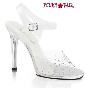Fabulicious | Gala-08SD, 4.5 Inch Heel with Rhinestones on Vamp
